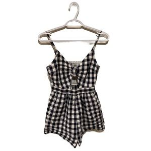 American Eagle Gingham Pin Up Romper - Women's XS
